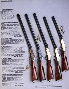 Henry Rifle early models.