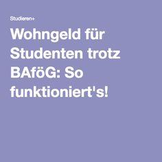 Wohngeld für Studenten trotz BAföG: So funktioniert's! To Study, Training
