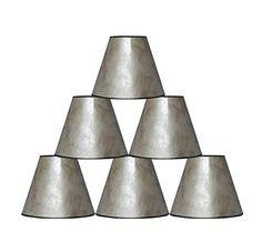 """Urbanest 3x6x5"""" Mica Chandelier Lamp Shade, Silver, Set o... https://www.amazon.com/dp/B00NC9W3Y2/ref=cm_sw_r_pi_dp_U_x_UrNnAbZSR9KR9"""