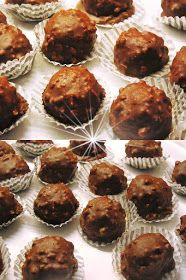ΜΑΓΕΙΡΙΚΗ ΚΑΙ ΣΥΝΤΑΓΕΣ 2: Σοκολατάκια Ferrero rocher !!! The Kitchen Food Network, Death By Chocolate, Ferrero Rocher, Dessert Recipes, Desserts, Food Network Recipes, Truffles, Nutella, Muffin