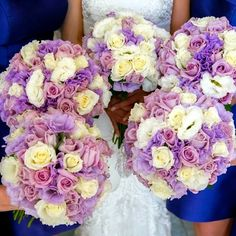 We love the vibrant colours in these bouquets by the very talented team at Oatley House of Flowers!