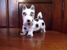 Vintage Scottish Terrier,  Scottie Dog Planter Made in Japan by AntiqueMee on Etsy