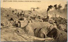 """Colorado Mining Postcard """"AJAX MINE, Cripple Creek District"""" HHT c1910s Unused"""