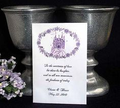 Fairytale Castle (shown in color Purple) Seed Favor Packets. $2.00 each www.PartyFavorWebsite.com