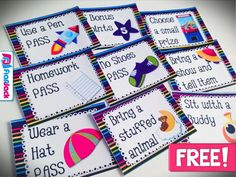 FREE SPACE Positive Behavior Reward Coupons - Classroom Freebies Here are some free positive behavio Space Classroom, Classroom Freebies, Kindergarten Classroom, Future Classroom, School Classroom, Classroom Decor, Classroom Coupons Free, Classroom Organization, Classroom Passes