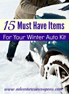 Colder weather means its time to check your emergency kits! Don't forget your car kit! Be certain that yours has these 15 Must Have Items for Your Winter Car Kit included!