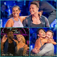 Kevin Clifton, Karen Clifton and Joanne Clifton with their Strictly Come Dancing 2016 partners