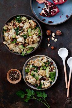 Roasted Cauliflower and Hazelnut Salad by tartelette, via Flickr