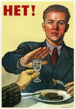 USSR anti-alcoholism propaganda poster