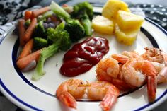 whole shrimpin plate for a well-balanced lunch. what are you eating for lunch today? #eatcleansweatdirty