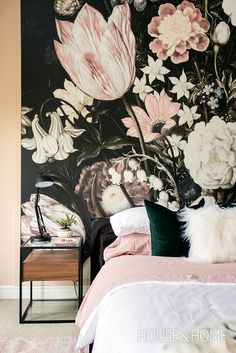 H&H's Reiko Caron shows us how she turned an out-of-date bedroom into an edgy yet pretty retreat for Kylie Miller, lead guitarist inThe Beachesband. | Photo: Jason Stickley