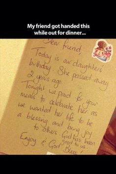 Random act of kindness...WOW! Just...WOW!!! If this doesn't touch your heart then chances are you don't have one♡