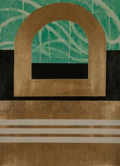 Bronze Portal, ©2013, 22x30 inches, Acrylic on paper, from www.kazaan.com, at Artists Circle Fine Art, N. Potomac, MD.