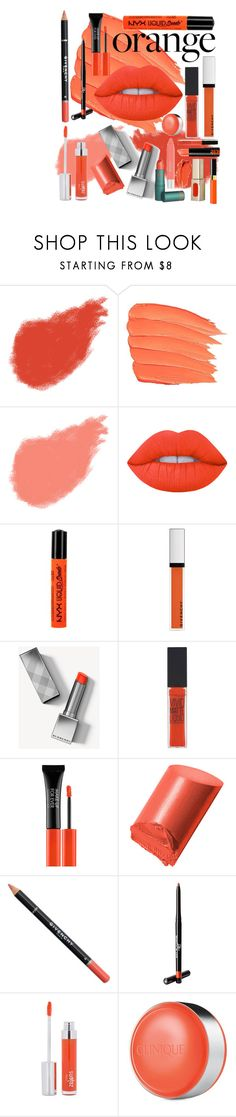 """Orange"" by maryamsaeed1 ❤ liked on Polyvore featuring beauty, Clé de Peau Beauté, Bobbi Brown Cosmetics, Lime Crime, NYX, Givenchy, Burberry, Maybelline, MAKE UP FOR EVER and Beauty Is Life"