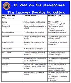 ib learner profile spanish english - Google Search
