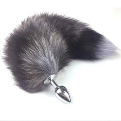 260c8883e67 Sexy Toys Metal Fake Fur Fox Dog Tail Anal Plug Butt Plug BDSM Flirt Anus Plug  For Women Adult Games Product For Couples o71009