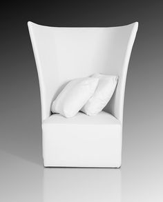 Bastia Modern White Leather Leisure Chair - Lounge & Chaise - Occasional