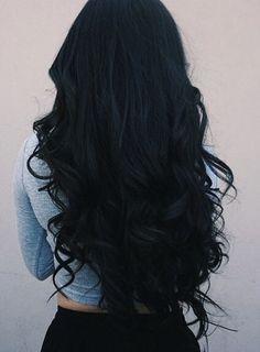 (brxkensavvi) - dark hair💗 - (brxkensavvi) – dunkles Haar💗 Effektive Bilder, die wir über diy to do wh - Beautiful Long Hair, Gorgeous Hair, Hair Inspo, Hair Inspiration, Long Dark Hair, Grunge Hair, Dream Hair, Blue Hair, Blue Black Hair Color