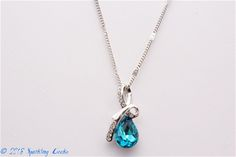 Teresa - Blue Blue Crystal Necklace, Necklace,Jewelry & Watches, All Fashion Jewelry,Value,Sale