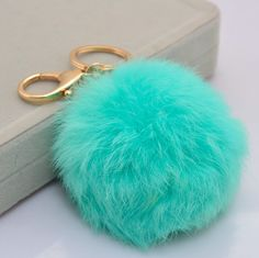 Fur Pom Key Chain