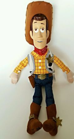 "Disney Store Toy Story Sheriff Woody Cowboy Plush Toy Doll 18"" Tall Boys Doll #DisneyStore"