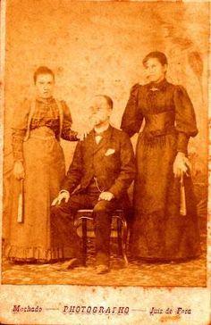 Além-Paraíba. Barão de ; Joaquim Barbosa de Castro e suas filhas
