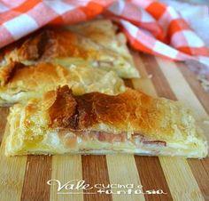 Millefeuille salted with ham and cheese - Millefoglie salata con prosciutto crudo e formaggio