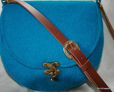 Harris Tweed Saddle Bag in Turquoise Harris by Ten10Creations