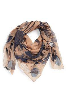 Alexander McQueen 'Nest of Roses' Scarf available at #Nordstrom