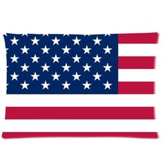 USA American Flag The Stars and Stripes Pillow Case Pillow Inner Included Soft Bedding 20x30(One side) New Fashion