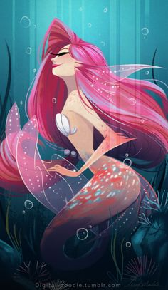 Old Mermaid drawing for Sketch Dailies :)