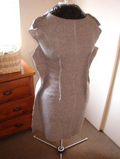 altering a small dressform to plus size-with tutorial - CLOTHING