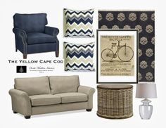 The Yellow Cape Cod: Custom Designs - I like the navy blue chair