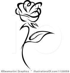 rose clip clipart border roses tattoo royalty illustration vector flower single panda tattoos rf heart flowers bouquet clipartkid bud tradition