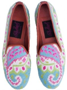 Preppy Paisley Needlepoint Loafer