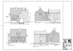 Skiss över fasaderna Floor Plans, House, Home, Homes, Floor Plan Drawing, Houses, House Floor Plans