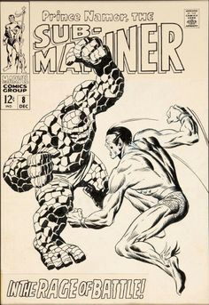 Sub-Mariner 8 cover art  by John Buscema