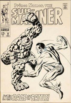 Sub-Mariner 8 cover art  by John Buscema