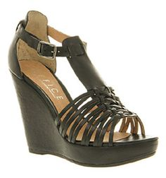 Woven wonder wedge sandels in black from Office, teamed with the Free People dress, hello Summer.