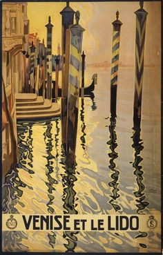 1920's travel poster for Venice