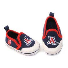 Arizona Wildcats Crib Shoes - Baby, Infant Unisex, Size: 6-9 Months, Blue
