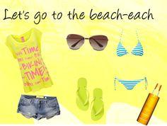 """beach"" by leklink on Polyvore"