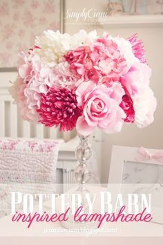 Simply Ciani: The Look For Less - Diy PotteryBarn Lamp Shade  Girls Room