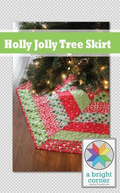 Holly Jolly Christmas Tree Skirt Pattern