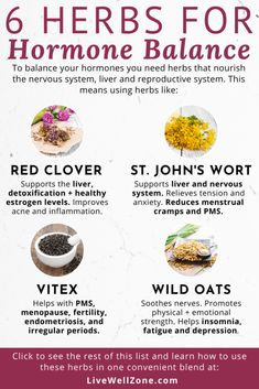 These herbs that balance hormones are the best natural remedies for female hormonal imbalance. Learn how to use these supplements to balance hormones fast. Équilibrer Les Hormones, Foods To Balance Hormones, Balance Hormones Naturally, Holistic Nutrition, Health And Nutrition, Health And Wellness, Child Nutrition, Healthy Holistic Living, Natural Health Remedies