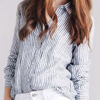 Linen Striped Shirt £29.90, Jeans £29.90 Image by shoplondon.standard.co.uk/
