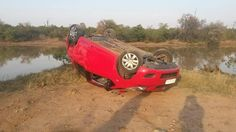 Local tourists get involved in an accident involving an elephant in the Kruger National Park.