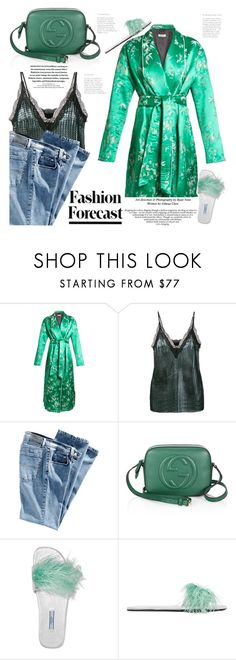 """""""Night-to-day-dressing"""" by naki14 ❤ liked on Polyvore featuring Attico, House of Holland, Gucci, Prada, daywear, Nightwear and kimono"""