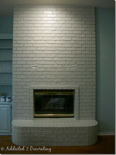 Addicted 2 Decorating » A Painted Brick Fireplace, A Winner, and Addicts (not so) Anonymous No. 3