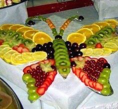 Butterfly/fruit platter for your next part or event.